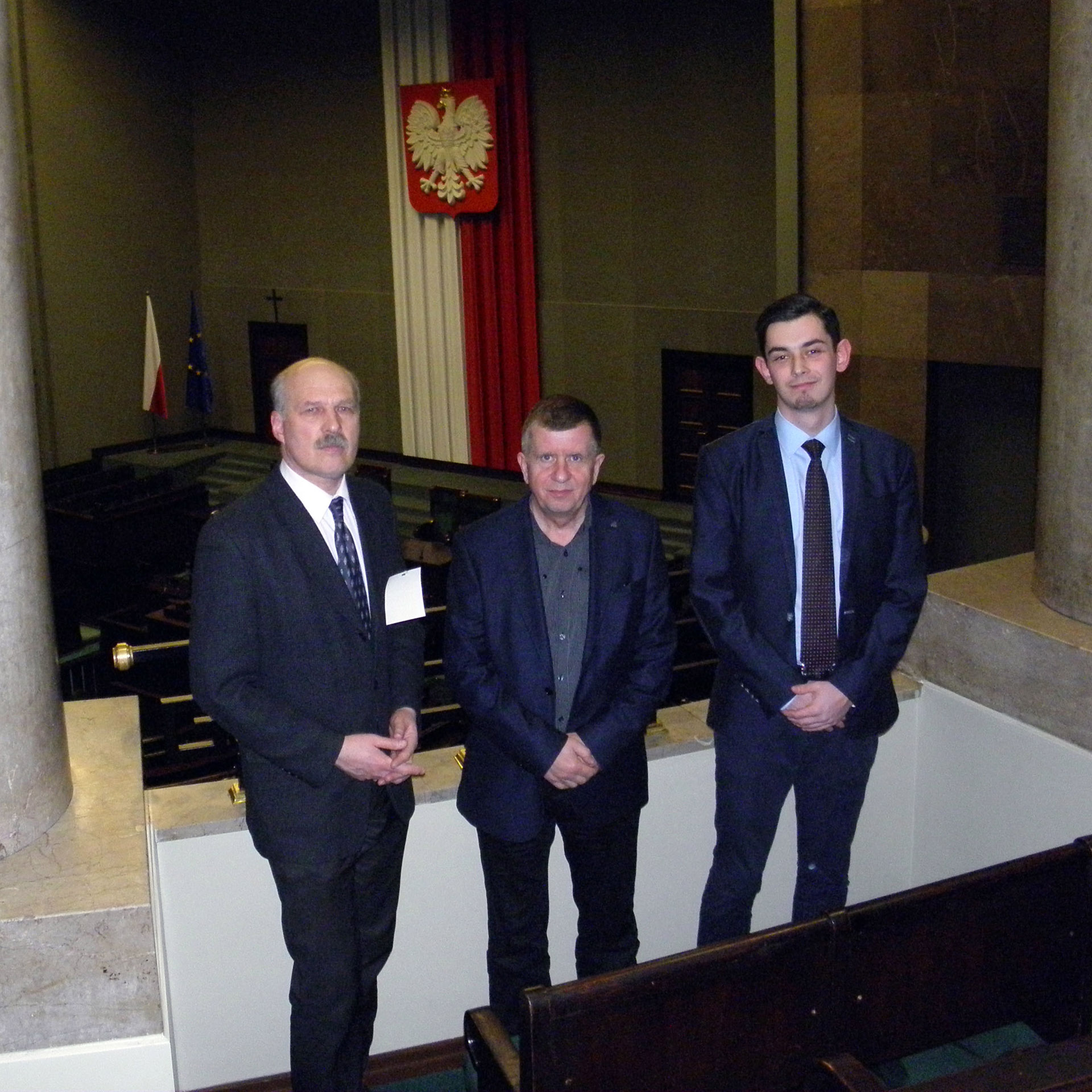 Our trio in Polish Parliament...